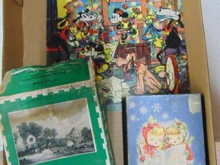 A box of Puzzles Vintage