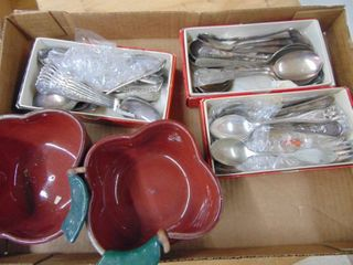 Apple Dishes and Silverware