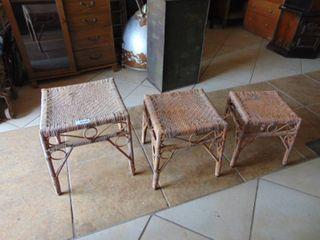 Nesting Wicker Tables