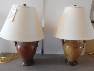 Lot #401 -Pair of contemporary pottery table