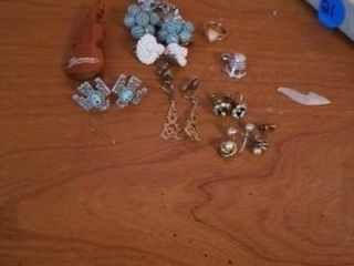 ClIP ON EARRINGS AND A CHIlDS RING