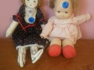 2 ClOTH DOllS