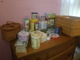 BASKETS AND TINS