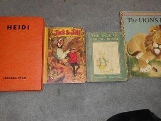 4 VINTAGE BOOKS  HEIDI  JACK   JIll    OTHERS