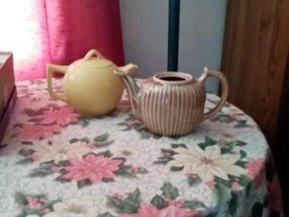 2 CERAMIC TEA POTS