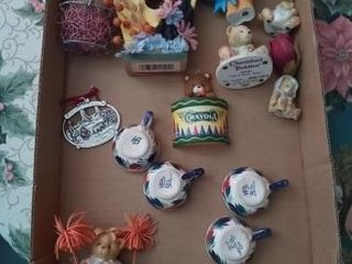 MISC BOX OF SMAll MINIATURE WHATNOTS