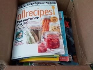 BOX OF EXPIRED MAGAZINES VARIOUS lABElS AND ONE
