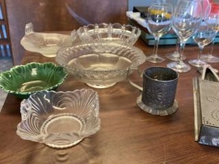 GlASS BOWlS WINE GlASSES  METAl ART