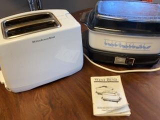 KITCHEN AID TOASTER AND WEST BEND SlOW COOKER