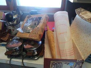 3 TIER CAKE PAN SET  VINTAGE WAFFlE MAKER  PASTRY