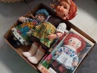 2 DOllS AND A NOXED RAGGEDY ANN AND ANDY