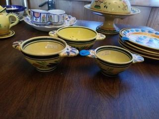 3 QUIMPER POTTERY FROM FRANCE BOWlS