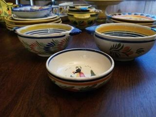 QUIMPER POTTERY FROM FRANCE BOWlS