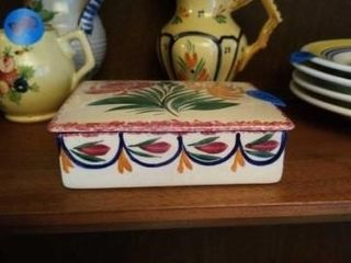 QUIMPER POTTERY FROM FRANCE COVERED DISH