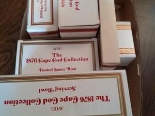 BOX OF AVON CAPE COD GlASS WEAR BOXED