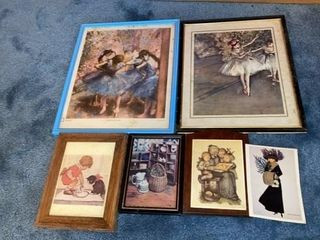 6 ASSORTED PICTURES 1 POSTCARD