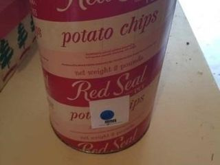 VINTAGE POTATO CHIPS CONTAINER