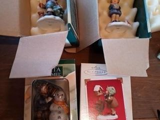 3 BERTA HUMMEl FIGURINES AND ONE HAllMARK