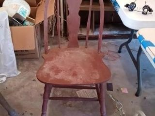 OlD CHAIR 36 INCHES TAll NEEDS REPAIR