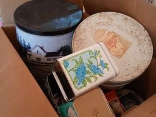 lARGE BOX OF TINS