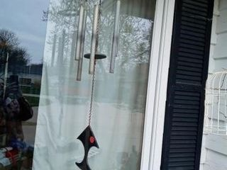 METAl WIND CHIME AND BIRD CAGE