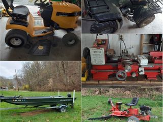 Honda Four-Wheeler, Alumacraft Boat with Trailer and Much More