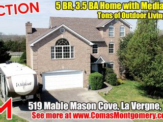 AUCTION: 5 BR, 3.5 BA Home with Media Room - Tons of Outdoor Living Space