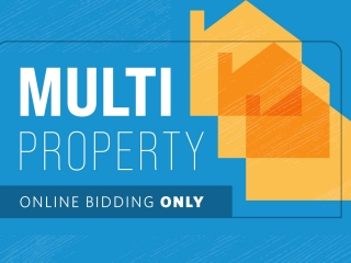 22 Properties!! Multi-Property Live Stream Auction Event