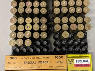 Brass 12 Gauge Shells   2 000  Shotgun Primers