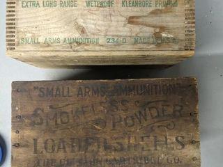 Old Ammunition Boxes