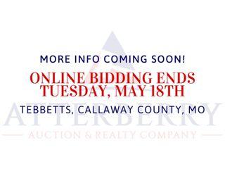 93 +/- Ac. Land Auction - 11849 CR 485, Tebbetts, Callaway Co., MO