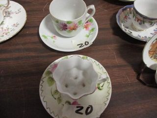 Lefton Cup & Saucer (Saucer Chipped)
