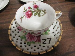 Crown China Cup & Saucer