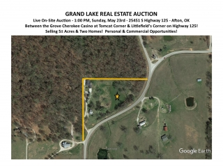 LIVE AUCTION Grand Lake, 5 Acres, 2 Homes!