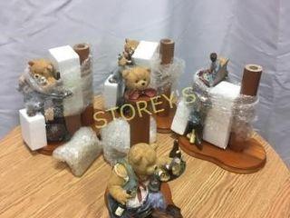 5 Drunken Bear Paper Towel Holders
