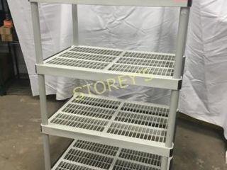 4 Tier Plastic Shelf   36 x 24 x 54