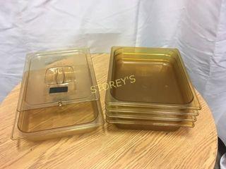 5 Amber Inserts   1 lid