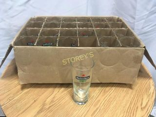 24 Heineken   Miller Beer Glasses
