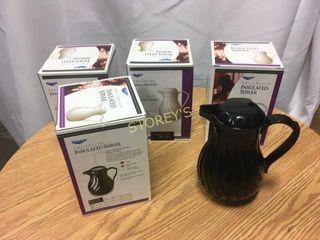 4 Insulated Black Coffee Servers   NEW