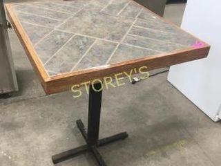 Tile Top Hi Top Bar Table   31 x 31 x 39