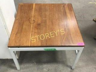 Metal   Wood Side Table   30 x 30 x 21