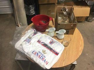 New Molson Bag  Creamers  Measuring Cups  Etc