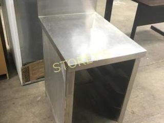 S S Work Table w  8  Backsplash   18 x 24 x 30