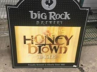 Big Rock Honey Brown Tin Sign   18 x 20