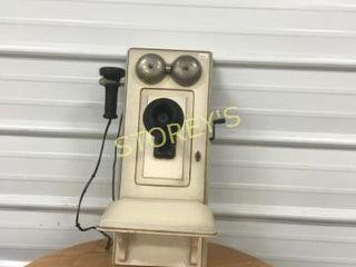 Antique White Telephone   10 x 8 x 23