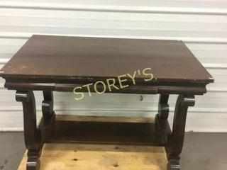 Antique Console Table w  Drwaer   45 x 28 x 30