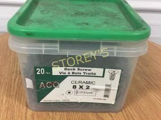 20lbs of 8 x 2 Ceramic Screws
