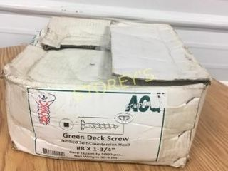 8 x 1 3 4  Green Deck Screws