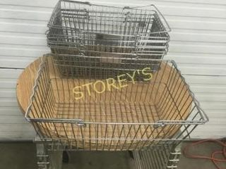 5 Chrome Shopping Baskets