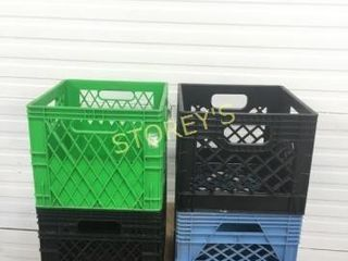 4 Asst Milk Crates